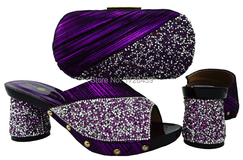2017 latest Italian Shoes with Matching bags For Party african Shoes And Bag Set good quality