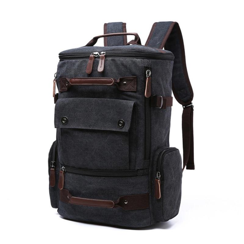 Image 4 - mens backpack vintage canvas backpack school bag mens travel  bags large capacity backpack  laptop backpack bag high qualitBackpacks