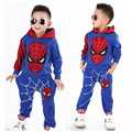 Spiderman Boys Clothing set Baby boy Active suit Sports 2 pieces sets Tracksuits Kids Cartoon Hoodies + Pants vetement garcon