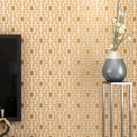 Vintage Grid Pattern White 3D Wallpaper Modern Geometric Non Woven Wall Paper Roll Home Decor for Living Room Bedroom Study Room