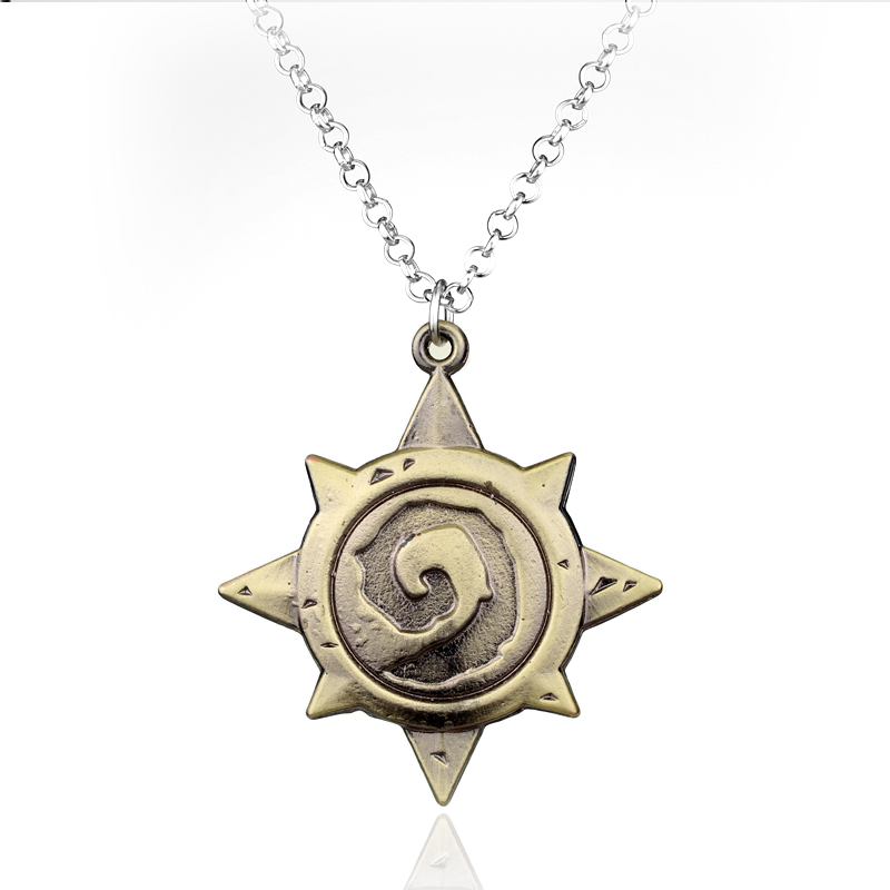 Hot Game Jewelry Latest Cool Pendant Necklace Hearthstone Heroes of War Craft Mark Antique Bronze Accessory Necklace Men Gift