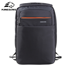 Kingsons Men Backpack Women 15.6 inch Anti Theft Waterproof Academy Double Shoulder Knapsack Travel Packsack Business School Bag
