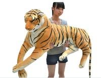 biggest animal plush toys tiger toy huge stuffed tiger doll tiger pillow birthday gift 130cm