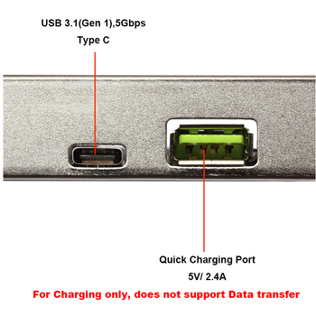 En-Labs USB 3.0 3 Poort (Type C + 20 Pin Interne) PCI-E Express Card W/2.4A Quick Charge USB Hub Controller Adapter Voor PC