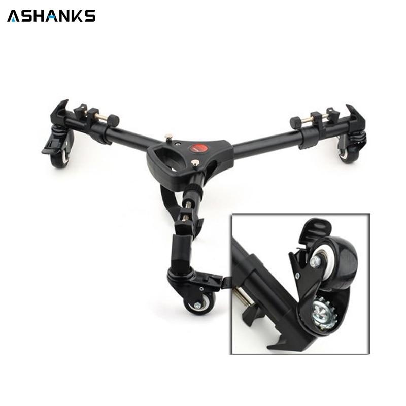 Ashanks Yunteng YT900 штатив колеса для тележки ролик Универсальный сложенный штатив для камеры подставка с сумкой загрузка 15 кг