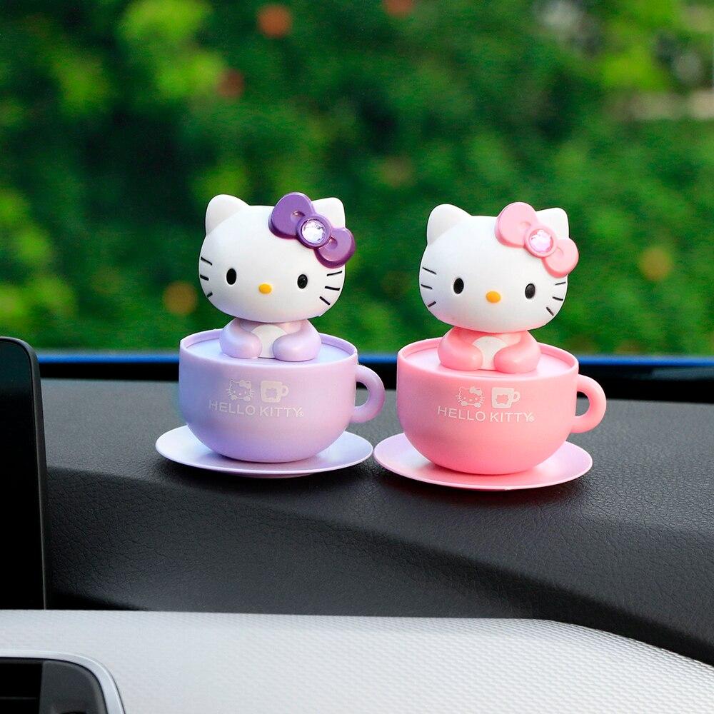 Car Ornament Shaking Head Bow Cat Automobiles Decoration Solar Power Smart Carto