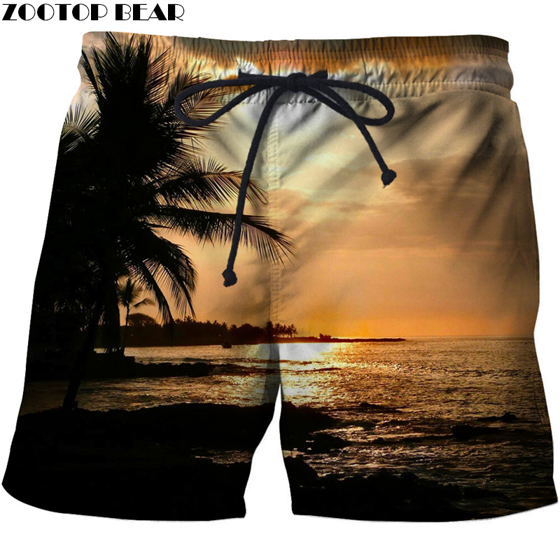 Sunshine 3D Print Summer Beach Shorts Masculino Streetwear Men Board Vacation Men's Short Anime Activated Carbon Quick Dry