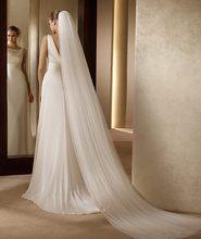 Nzuk véu de noiva 3 metros, véu de noiva elegante, acessório de casamento com 3 metros e 2 camadas, branco marfim, simples, véu de noiva com pente venda de venda