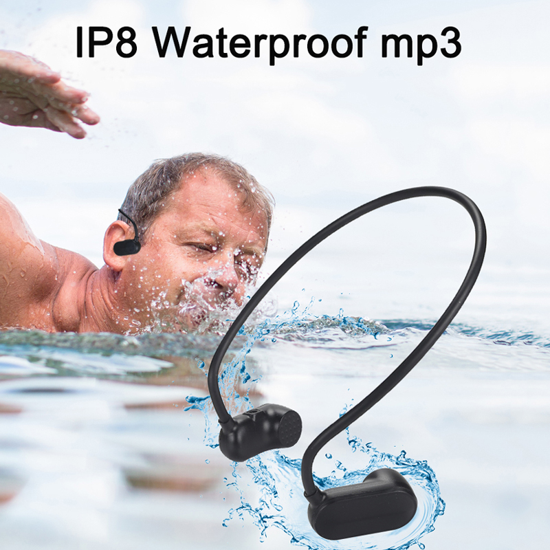 Newest APT-X V31 Bone Conduction 8G 12G HIFI MP3 Player Waterproof Swimming Outdoor Sport Earphones USB MP3 Music Players(China)