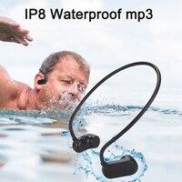 Newest APT X V31 Bone Conduction 8G 12G HIFI MP3 Player Waterproof Swimming Outdoor Sport Earphones USB MP3 Music Players