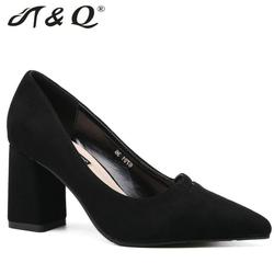 T q 2017 autumn women pumps 8cm fashion sexy high heels shoes shallow pointed toe thick.jpg 250x250