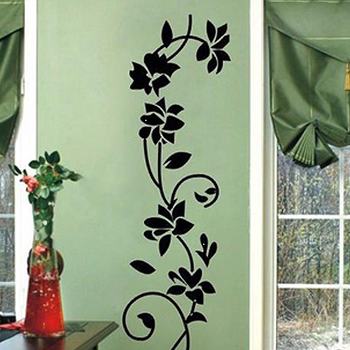 Hot Item! Classic Flower Vine Pattern Wall Stickers House Diy