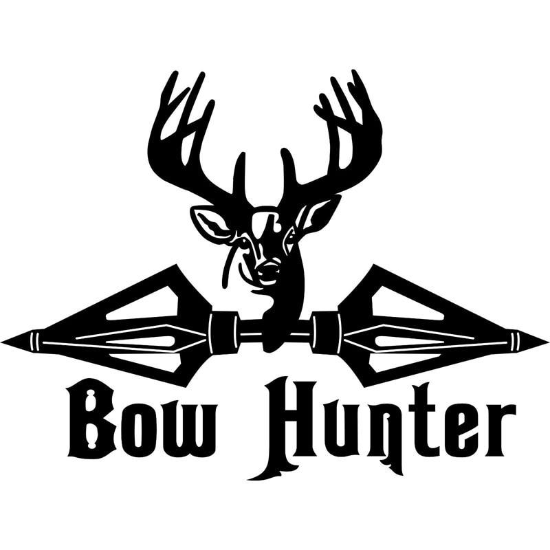 16CM*12CM Bow Hunter Hunting Deer Broadheads Arrow Funny Car Sticker Reflective Vinyl Decal Car Styling For Black Sliver C8-0409