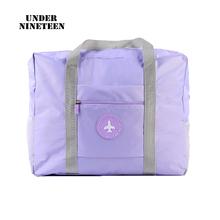Pod dziewiętnastu wodoodporne torby podróżne duża pojemność torba kobiety składane torby Unisex torby podróżne darmowa wysyłka na zamówienie tanie tanio under nineteen Oxford zipper Wszechstronny 17cm Stałe 335g LXB016 SOFT 45cm Na co dzień WOMEN 35cm Podróż torba