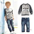 2016 fashion Boys clothing sets for autumn/spring Kids suit cotton Children's suit sports outerwear/sweatshirts+trousers/jeans