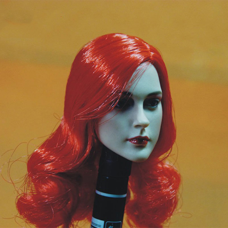 1 6 scale head sculpt female girl woman widow carving with red hair 12 quot PHICEN FIGURE action figure body accessory in Action amp Toy Figures from Toys amp Hobbies