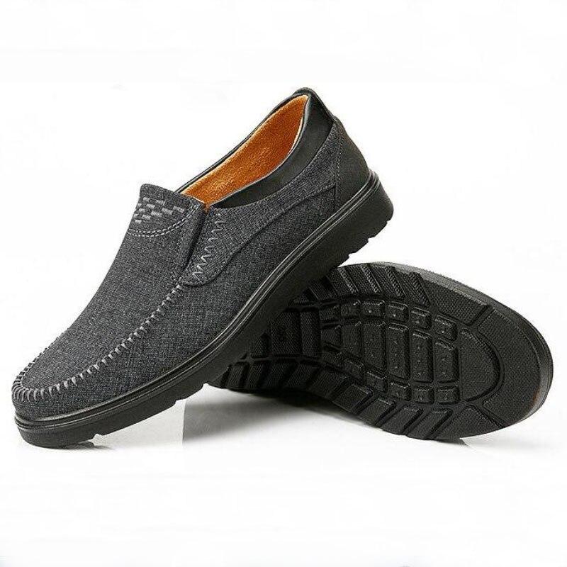 Algodão Respirável Clássico Sapatos Livre 39 Homens Rebanho grey Zapatos Ar Casuais De Brown Preguiçosos Ao Calçados Pano 48 Treino Tamanho Confortável Grande 6r8Frwvzqx
