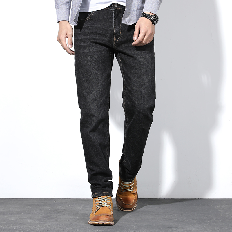 2019 Autumn And Winter New Style Men's Straight Jeans Loose Business Casual Stretch Men's Jeans Large Size 42 44 46 48