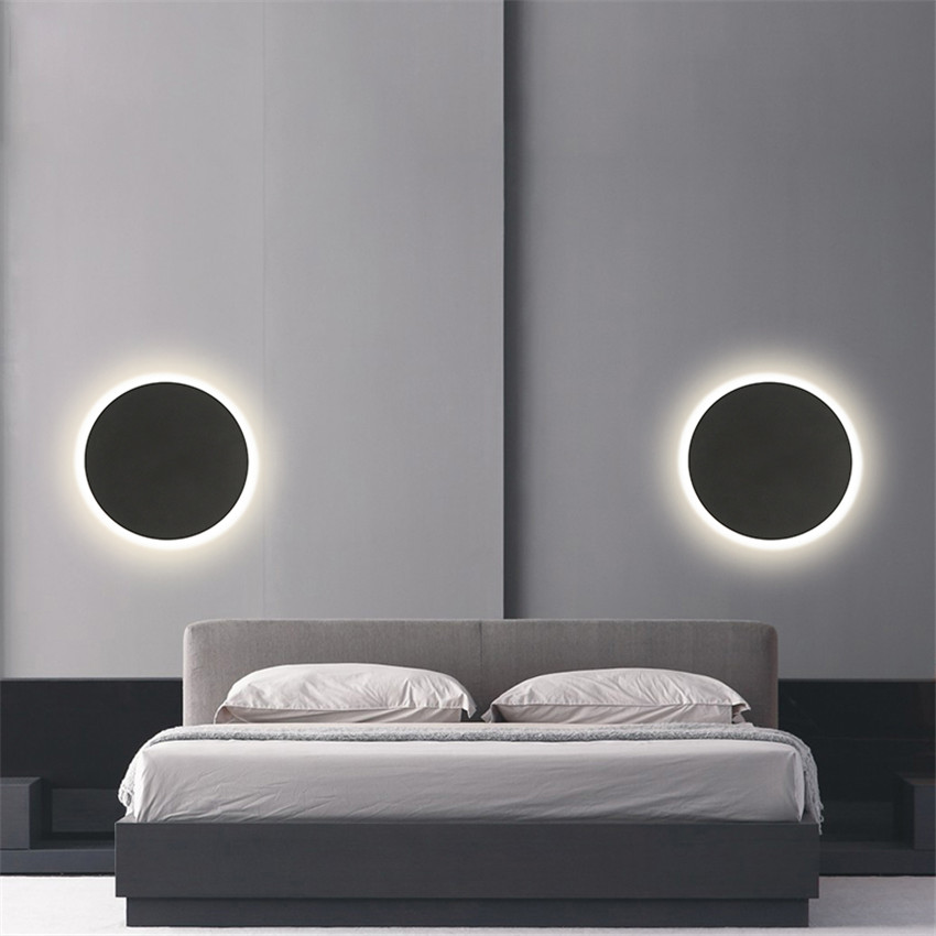Image 5 - Indoor Round LED Wall Lamp Living Room Decoration Wall Light Aluminum Home Lighting Fixture Loft Stair Light AC90 260V  NR 138-in LED Indoor Wall Lamps from Lights & Lighting