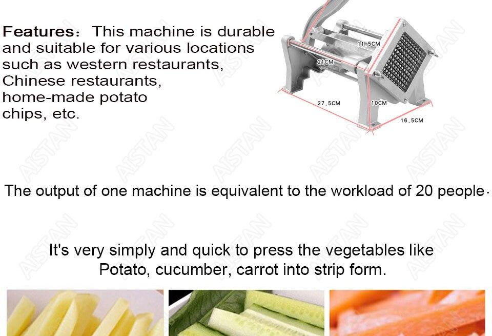 ST1 commerical manual aluminum die-casting potato chipper cutter potato chips cutting machine 3