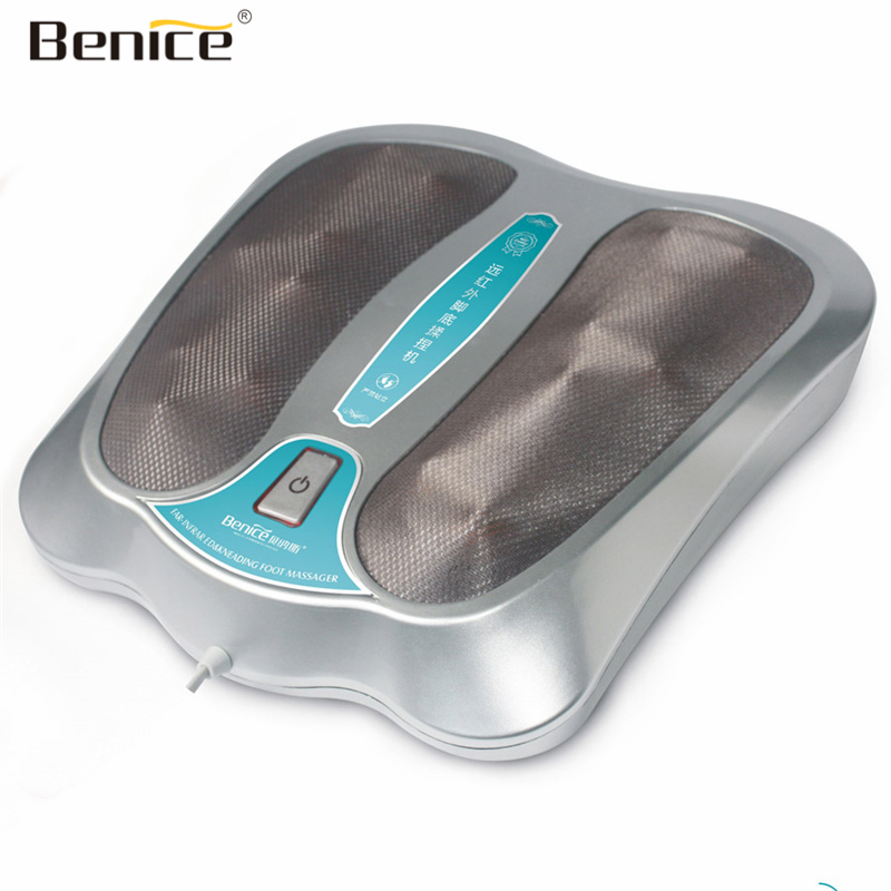 Benice Electric Far-Infrared Kneading Foot Massager With Heat SPA Electrical Stimulation Blood Circulation Foot Massage Machine 360 degree all around foot massager far infrared magnetic electric roller acupressure blood circulation foot massager for sale
