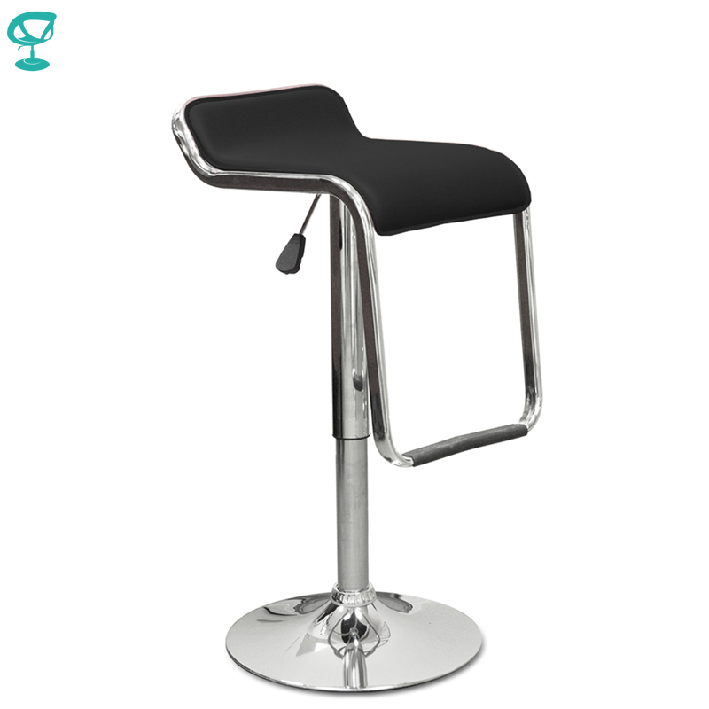94430 Barneo N-41 Leather Kitchen Breakfast Bar Stool Swivel Bar Chair Black Free Shipping In Russia