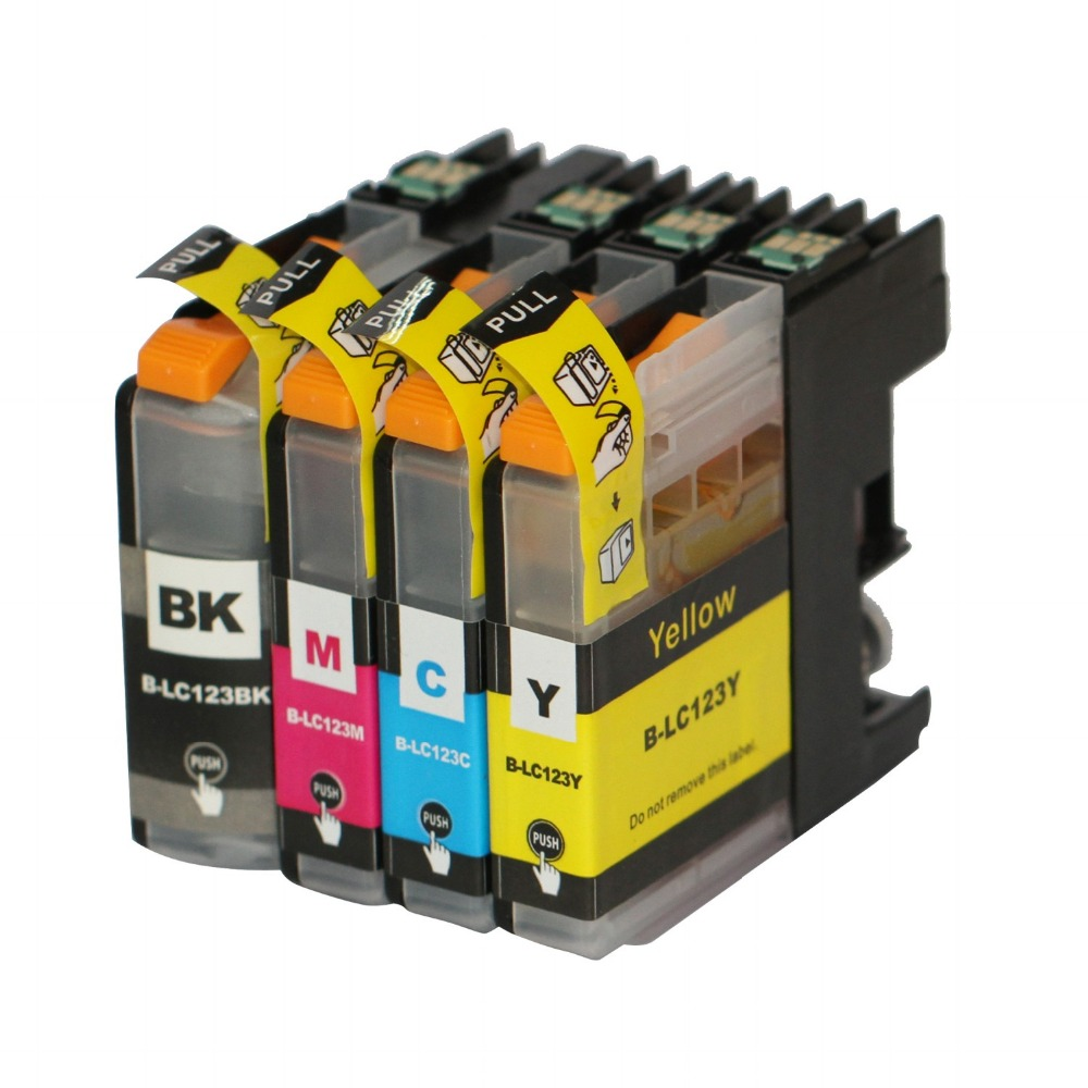 20 Printer Cartridges For Brother dcp-j152w DCP J152W DCPJ152 W for LC-123BK LC-123C LC-123M LC-123Y