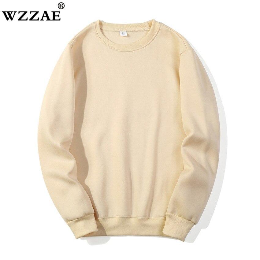 Solid Sweatshirts Spring Autumn Fashion Hoodies Male Warm Fleece Coat Hip Hop Hoodies Sweatshirts 2