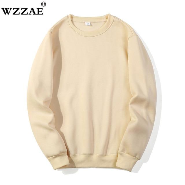 Solid Sweatshirts Spring Autumn Fashion Hoodies Male Warm Fleece Coat Hip Hop Hoodies Sweatshirts 38