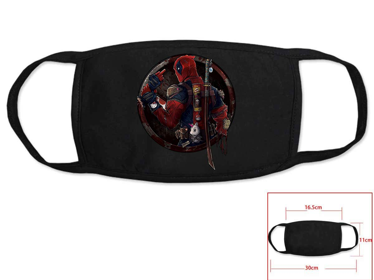 Hot Comic Dead Pool Cosplay Black Face Collection Gift Hip Hop Fashion Mask Unisex With Dead Pool Logo