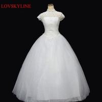 Diamond Lace Racerback Bandage Princess Bride Dress Slit Neckline 2015 Winter Wedding Dresses
