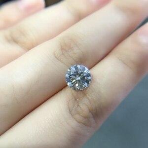 Image 2 - Round Moissanite white D VVS 1.00ct 6.5mm barestone custom Moissanite ring Pendants for naked diamond