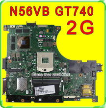 Original N56VB Laptop Motherboard for Asus REV2.3 Mainboard GT740 2G PGA 989 HM76 Fit N56VM N56VJ N56VZ N56VV tested well