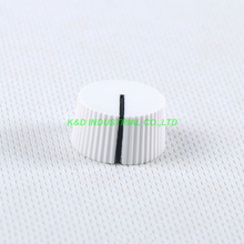 10pcs Colorful Rotary Vintage Control Plastic White Knob 21x12mm for 6.35mm Shaft Guitar