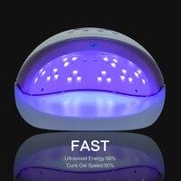50 W UV Lambası Tırnak Kurutucu Çivi Jel Kurutucu UV LED Tırnak kurutucu Kür Lambalar Işık Tırnak ve Ayak Tırnağı Çivi Sanat Araçları AB fiş