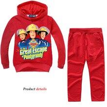 Z & Y 2 8 ans enfant en bas âge garçon vêtements pompier sam jogging costume élégant enfant adolescent vêtements enfants survêtement nouvel an costume pour garçon