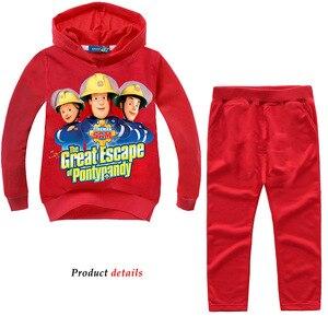 Image 1 - Z & y 2 8years roupas do menino da criança bombeiro sam jogging terno à moda criança roupas adolescentes crianças agasalho traje de ano novo para o menino