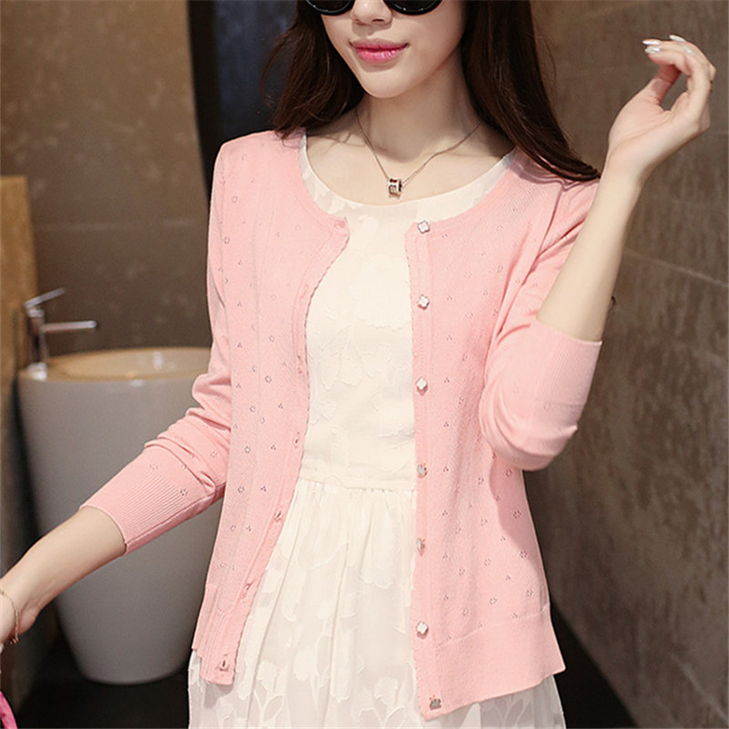 Casual Short design thin cardigan womens cutout sunscreen air conditioning shirt sweater female knitted outerwear small cape