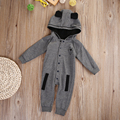 2016 Nuevos Zorro Ropa de Recién Nacido Bebé Mameluco Mameluco Largo de la Manga de una sola pieza traje de ropa de bebé mono Bebé Producto