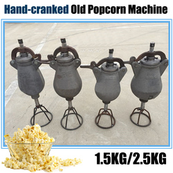 1PC 2.5KG Hand-cranked old Popcorn machine Popcorn maker Puffed rice machine Sealing the lid with a rubber pad