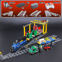 Lepine City Series 02008 The Cargo RC Train Set 60052 Building Blocks Bricks Children Educational Toys