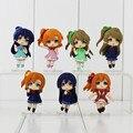 Anime love Live! escola idol projeto pvc figuras brinquedos 7 pçs/set kousaka honoka minami kotori sonoda umi