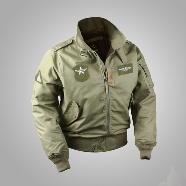 c744f6353a4 USAF Bomber CWU-45 P Flight Jacket Vintage Men s Military WW2 Uniform  Winter Coat
