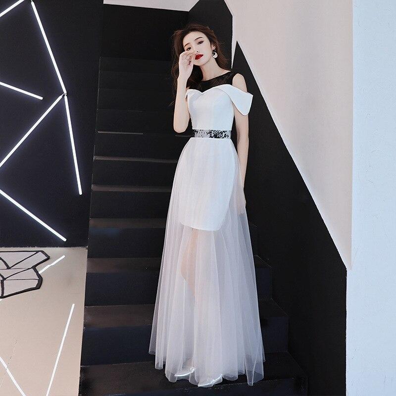 White Mesh Chinese Oriental Wedding Female Noble Cheongsam Vintage Party Evening Dress Elegant Modern Celebrity Banquet Dresses