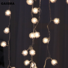 10M/20M/30M Ball Garland LED Christmas Lights String Fairy Lights Decoration For Holiday Party Wedding Decor Outdoor Lighting