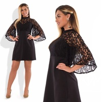 2018 Plus Size Dress Flare Sleeve Mini Summer Dress Sexy Party Dress 5XL 6XL Big Women