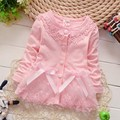 Fashion Spring Autumn Casual Girls  Lace Bow Jackets Cardigan Baby kids babe Coat Children Princess Outwear Coats S2116