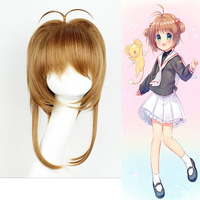 Hot Anime KINOMOTO SAKURA Card Captor Cosplay Wig For Women Girls Halloween Party Stage Play Cute
