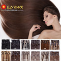 """ELI Hair Products 24""""(60cm) 70g-120g 20 Colors Long Straight Human Hair Clip Ins Remy Clip In Hair Extension ELI11"""