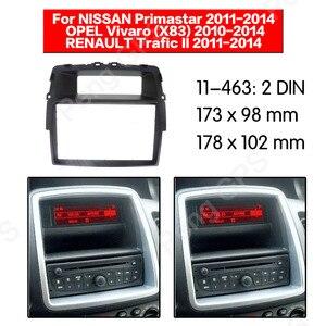 Автомагнитола 2 Din, комплект установки рамы для Nissan Primastar 2011 2012 2013 2014